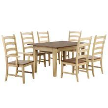 See Details - Rectangular Extendable Dining Set (7 piece)