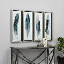Feathered Beauty Framed Prints, S/4