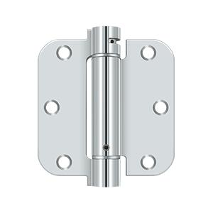 "3-1/2"" x 3-1/2"" x 5/8"" Spring Hinge - Polished Chrome"