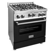 """See Details - ZLINE 30"""" 4.0 cu. ft. Range with Gas Stove and Gas Oven in Stainless Steel with Color Door Options (RG30) [Color: Black Matte]"""