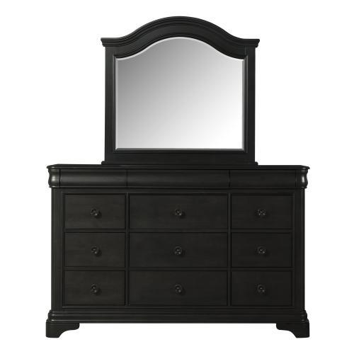 Cameron Charcoal Dresser & Mirror Set