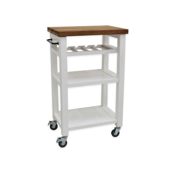 Belden Kitchen Cart, White