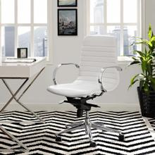 Groove Ribbed Back Office Chair in White