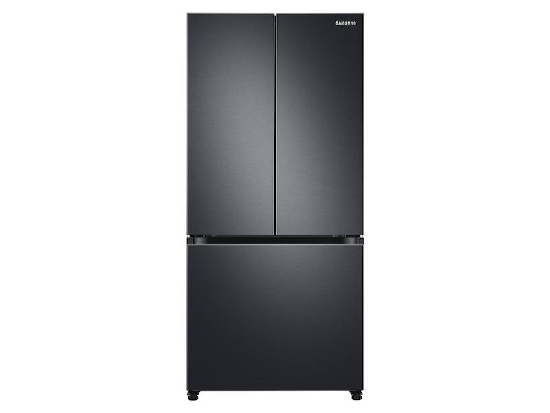 Samsung19.5 Cu. Ft. Smart 3-Door French Door Refrigerator In Black
