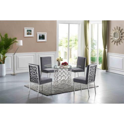 "Opal Velvet Dining Chair - 20"" W x 24"" D x 39.5"" H"