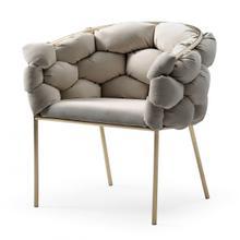 Modrest Debra - Modern Grey Fabric Dining Chair