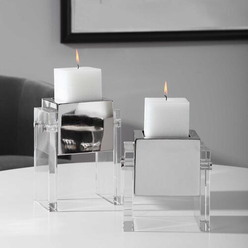 Sutton Candleholders, S/2