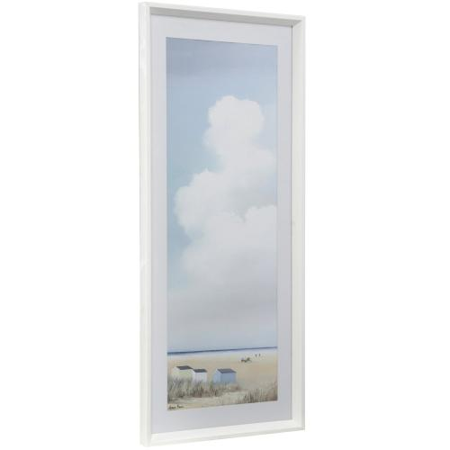 Style Craft - PROMINENT SKIES I  16in w X 41in ht  Framed Print Under Glass with Matte