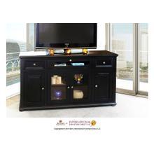 "See Details - 63"" Black TV Console w/4 doors, 2 drawers & 1 Landscape door"