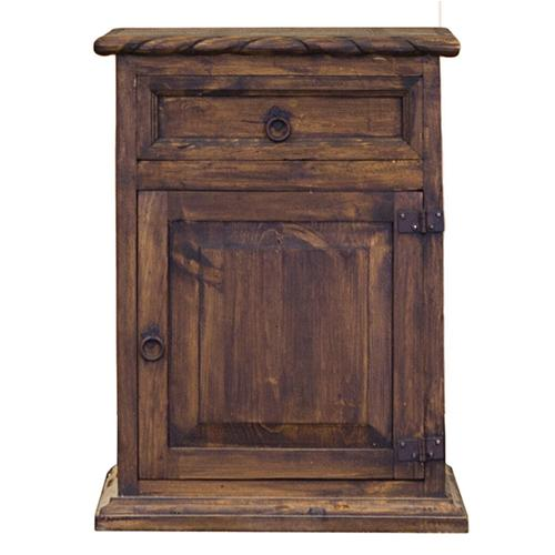 """L.M.T. Rustic and Western Imports - Nightstand right : 22"""" x 30"""" x 16"""" Rope and Star Medio"""