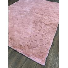 Soft Hand Carved Geometric Design Valentine Check Area Rug by Rug Factory Plus - 5' x 7' / Pink