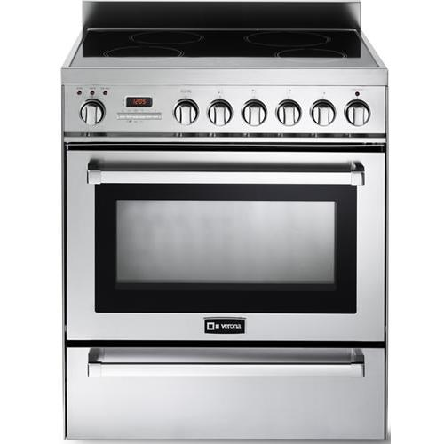 """Verona - Stainless Steel 30"""" Self-Cleaning INDUCTION Top Range"""