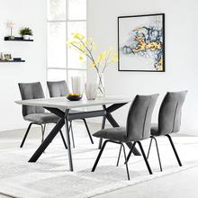 Product Image - Margot and Charcoal Rylee 5 Piece Modern Rectangular Dining Set
