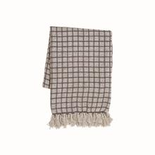 Hand Woven Barrett Throw Beige