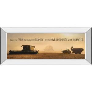 """""""The Farmer"""" By Lori Dieter Mirror Framed Photo Print Wall Art"""