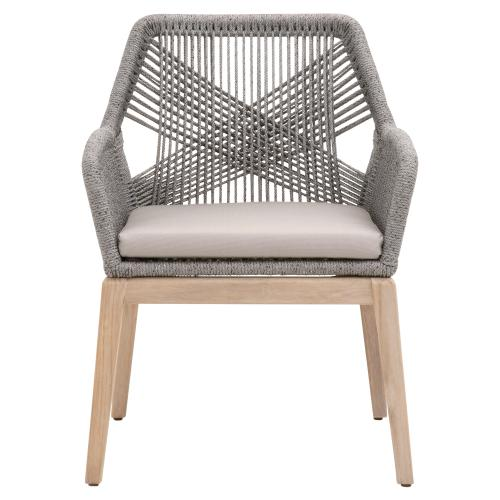 Loom Outdoor Arm Chair, Orient Express Furniture Loom Counter Stool