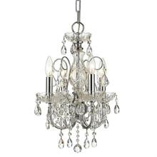 Imperial 4 Light Clear Crystal Chrome Mini Chandelier