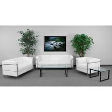 See Details - HERCULES Regal Series Reception Set in Melrose White LeatherSoft
