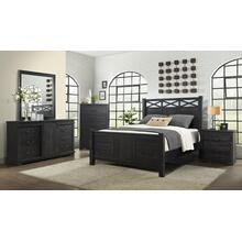 QUEEN BED - HB/FB/R - Antique Black