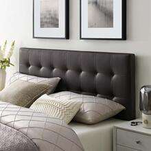 See Details - Lily Queen Upholstered Vinyl Headboard in Brown