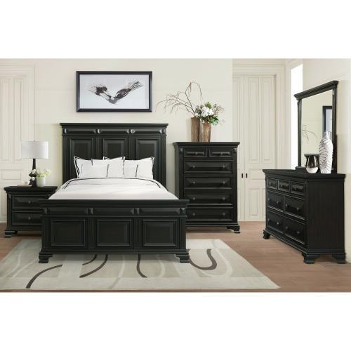 Gallery - Calloway Queen Panel Bed in Antique Black