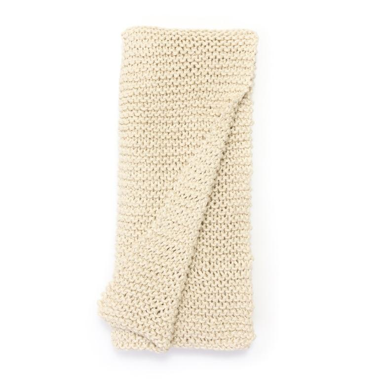 Perrin Cable Knit Natrl Throw