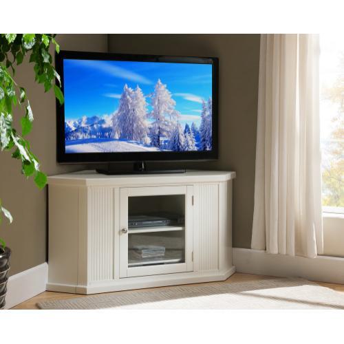 """White 46"""" Corner TV Console #85285"""