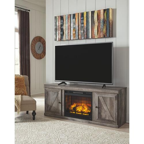 """Signature Design By Ashley - Wynnlow 60"""" TV Stand With Electric Fireplace"""
