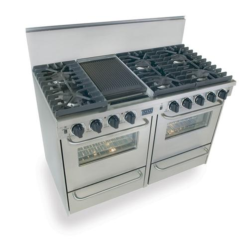 """Five Star - 48"""" All Gas, Convection, Sealed Burners, Stainless Steel"""