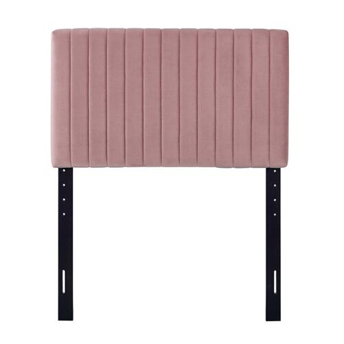 Keira Twin Performance Velvet Headboard in Dusty Rose