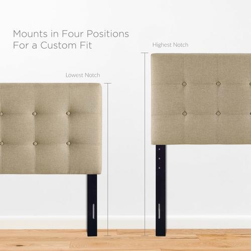 Modway - Emily Queen Upholstered Fabric Headboard in Beige