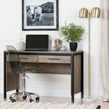 Munich - Desk with Drawers, Weathered Oak and Matte Black