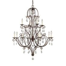 Chateau Large Chandelier Mocha Bronze