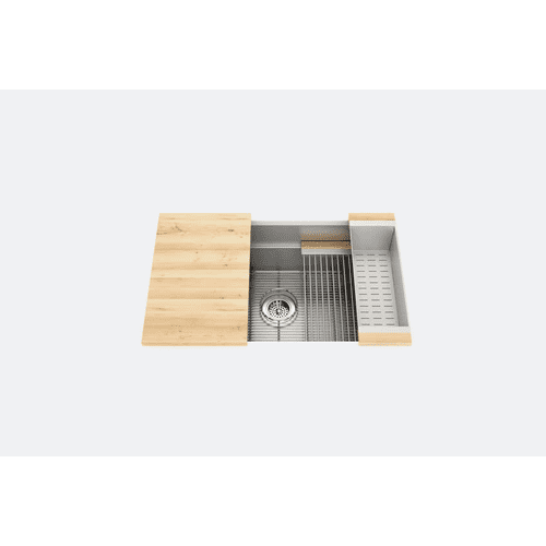 "SmartStation® 005402 - undermount stainless steel Kitchen sink , 30"" × 18 1/8"" × 10"" (Maple)"
