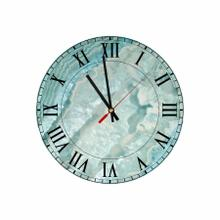 Blue Round Quartz Acrylic Wall Clock