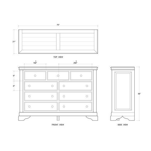 Homestead Dresser w/ 9 Drawer