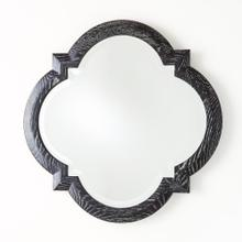 Quatrefoil Mirror-Black Cerused Oak