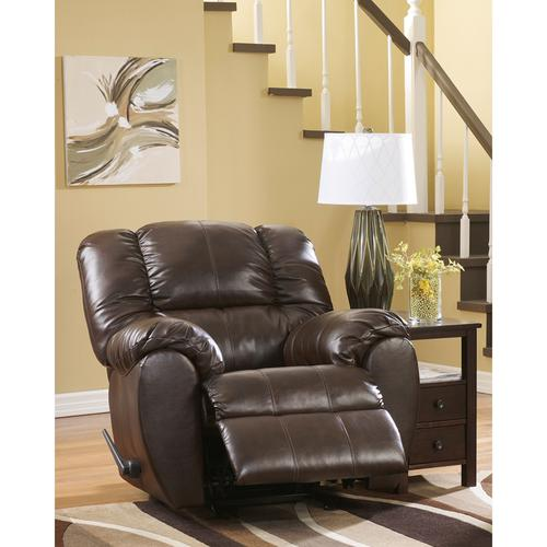 Signature Design by Ashley Dylan Faux Leather Rocker Recliner in Espresso Faux Leather [FSD-5699REC-ESP-GG]