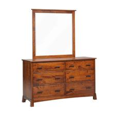 Catalina Low Dresser- Beveled Mirror