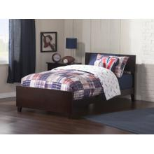 View Product - Orlando Twin XL Bed with Matching Foot Board in Espresso