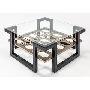 Coffee Table with Glass 42x42x16.5""
