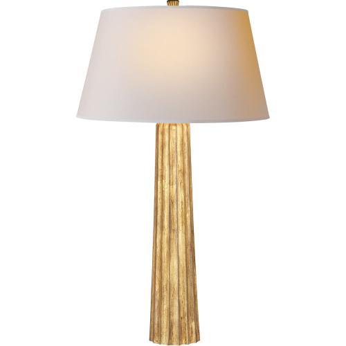 Visual Comfort CHA8906GI-NP E. F. Chapman Fluted Spire 32 inch 150 watt Gilded Iron Decorative Table Lamp Portable Light
