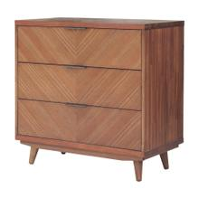 Piero KD Chevron Chest 3 Drawers, Monterey Brown