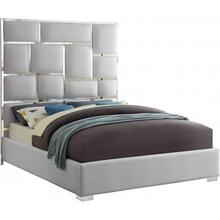 "Milan Faux Leather Bed - 81.5"" W x 84.5"" D x 70"" H"