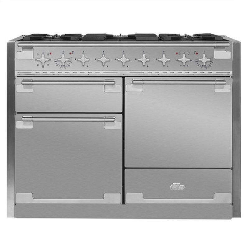 AGA Elise 48 Dual Fuel Stainless Steel with Chrome trim