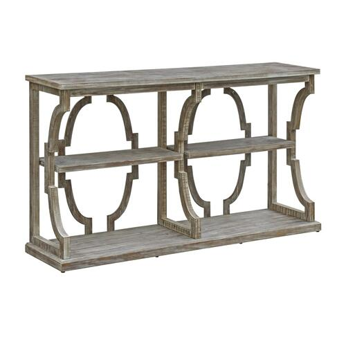 Crestview Collections - Stockton Open Chestnut Wash 3 Tier Console