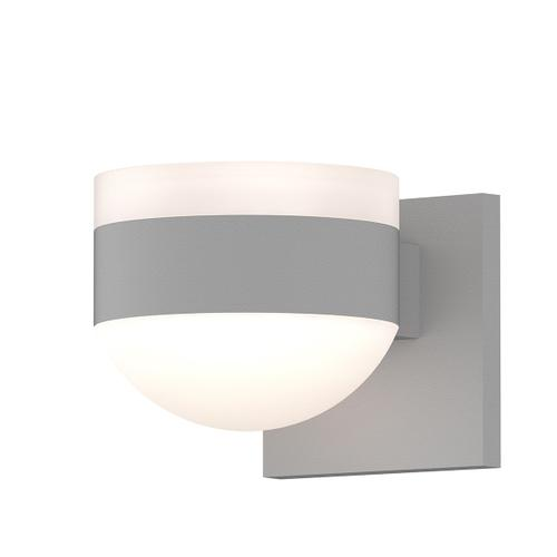 Sonneman - A Way of Light - REALS® Up/Down LED Sconce [Color/Finish=Textured White, Lens Type=White Cylinder Lens and Dome Lens]
