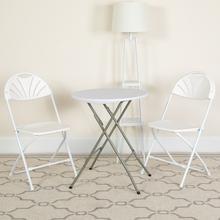 View Product - HERCULES Series 650 lb. Capacity White Plastic Fan Back Folding Chair