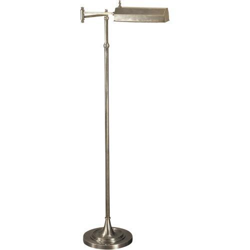 Visual Comfort CHA9107AN E. F. Chapman Dorchester 37 inch 40 watt Antique Nickel Swing-Arm Floor Lamp Portable Light