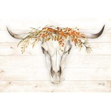 Framed - Fall Steer Skull By Marla Rae